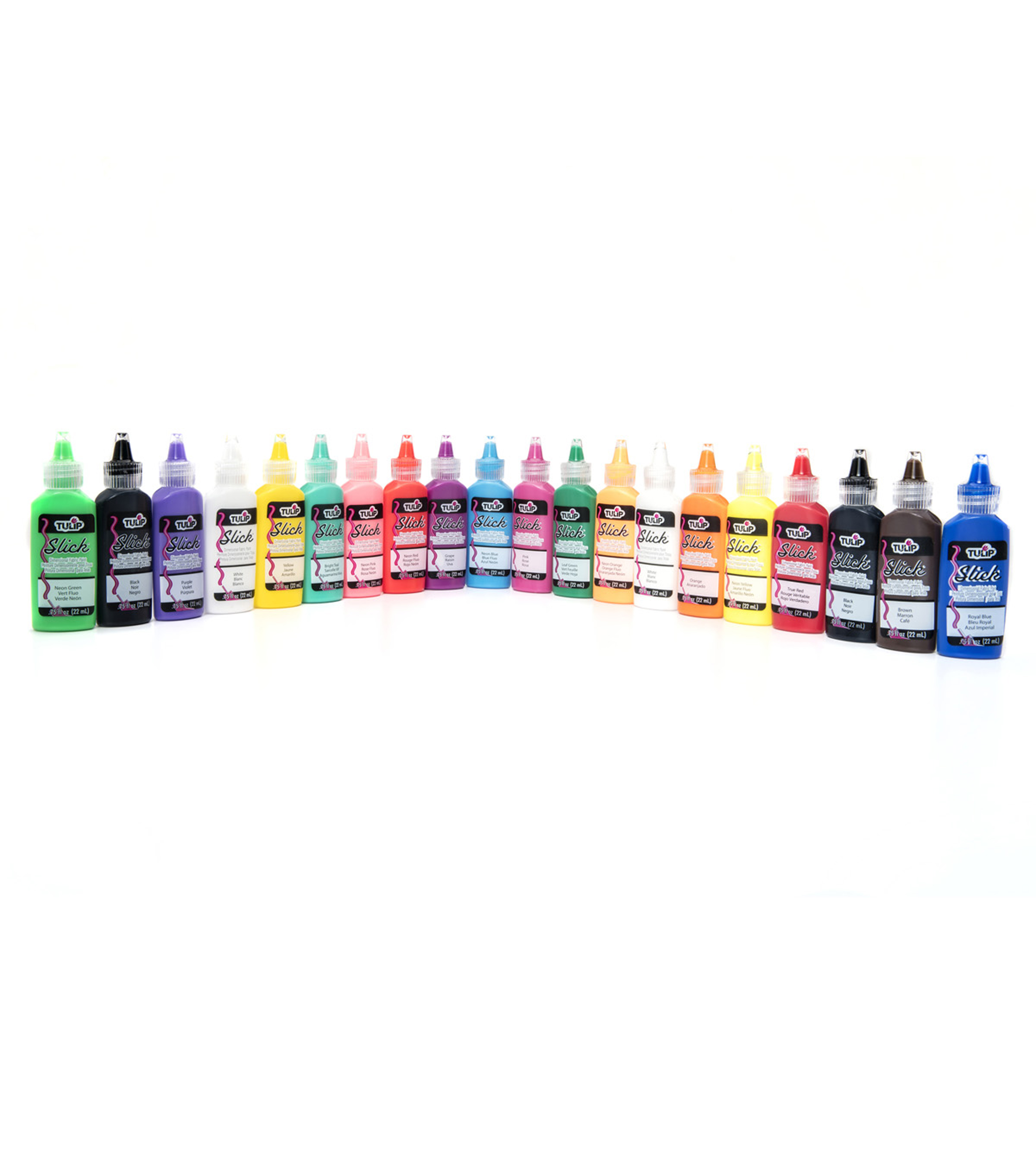 Tulip® 20 Pack Dimensional Fabric Paint-Rainbow & Neon