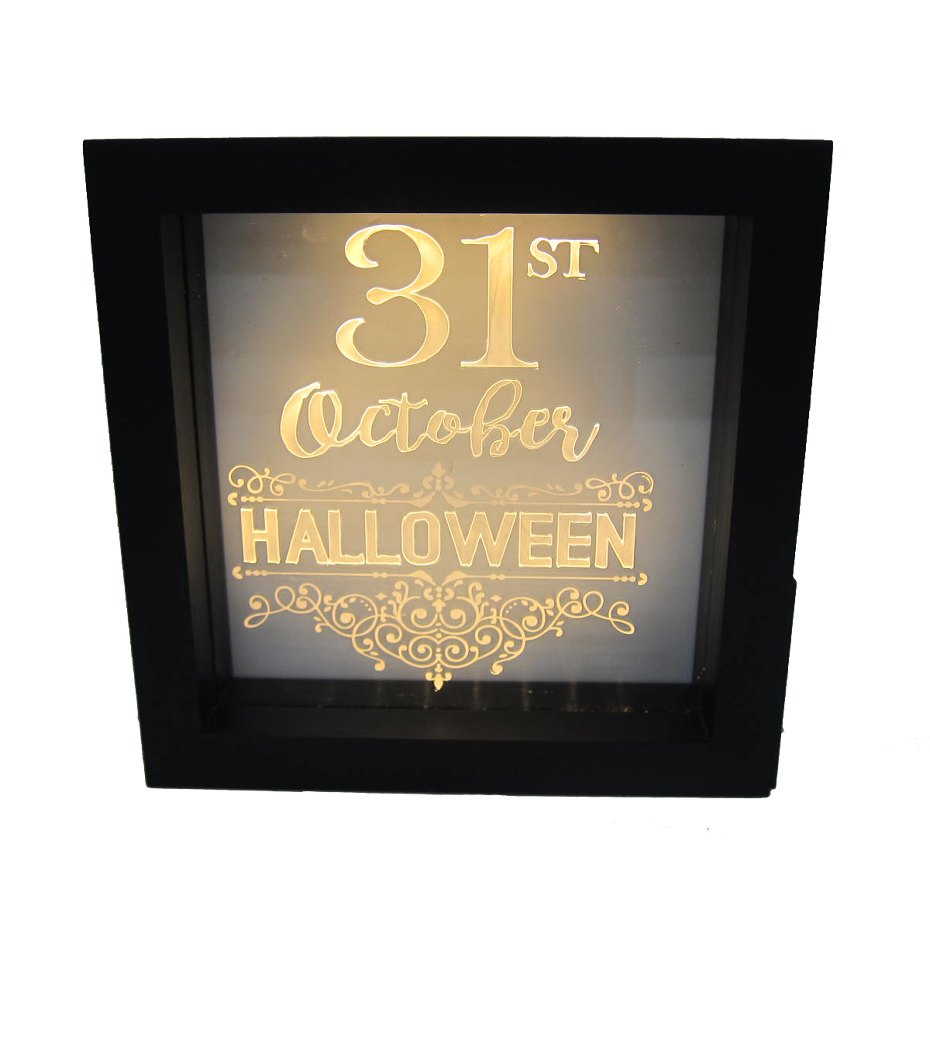 Maker\u0027s Halloween LED Plastic Word Block-31st October Halloween