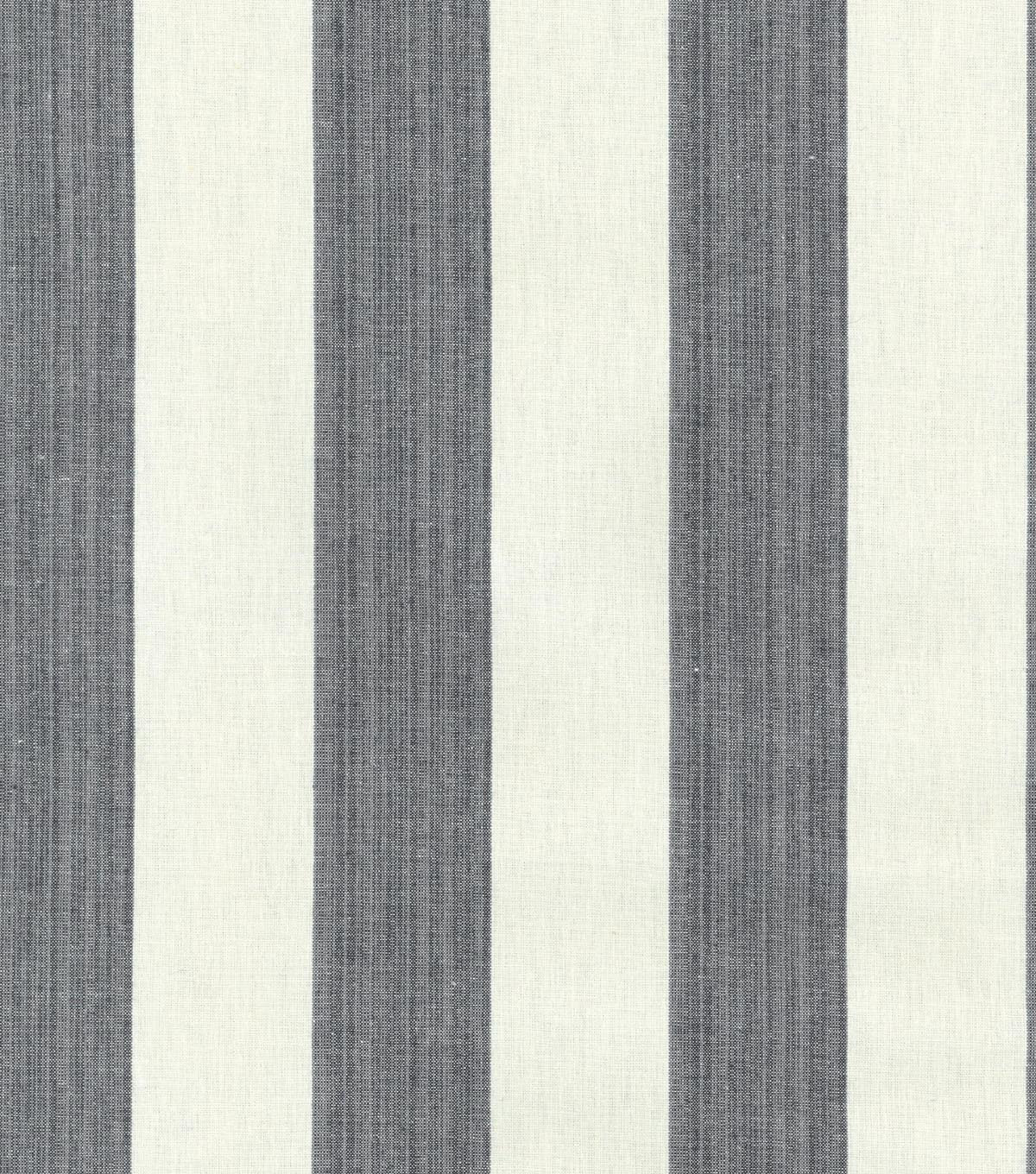 Williamsburg Upholstery Fabric 54\u0022-Stratford Stripe/Licorice