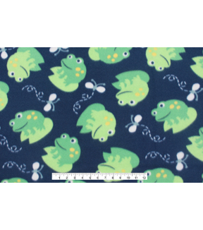 Blizzard Fleece Fabric 59\u0022-Frog And Fly Navy