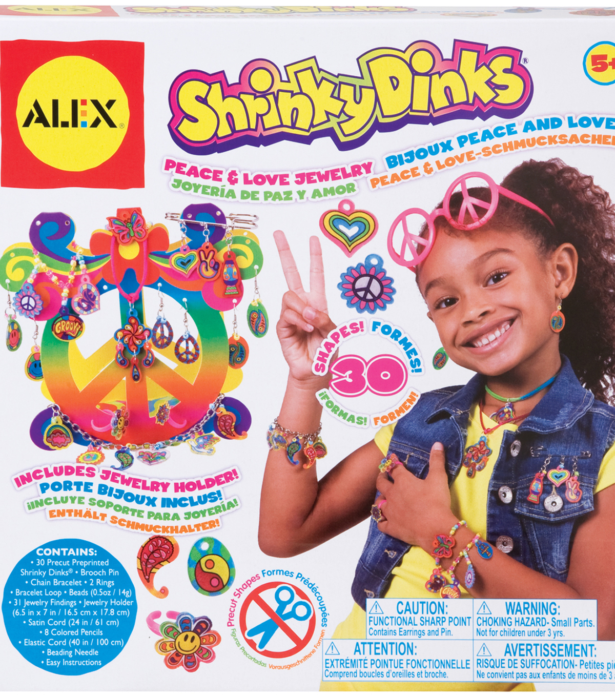 Alex Toys Peace & Love Shrinky Dinks Jewelry Kit
