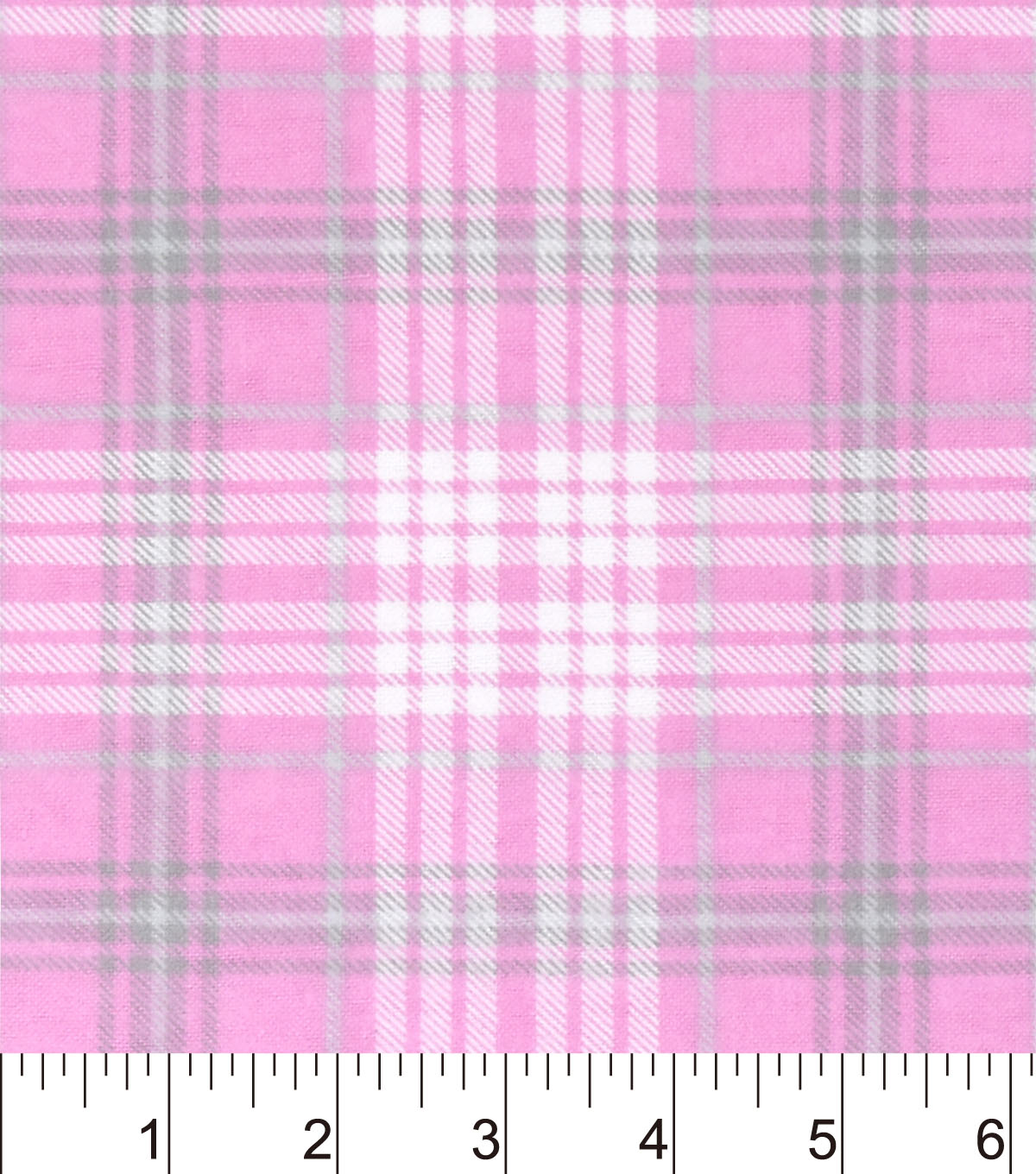 "Nursery Flannel Fabric 42""-Madison Sweet Pink Plaid"