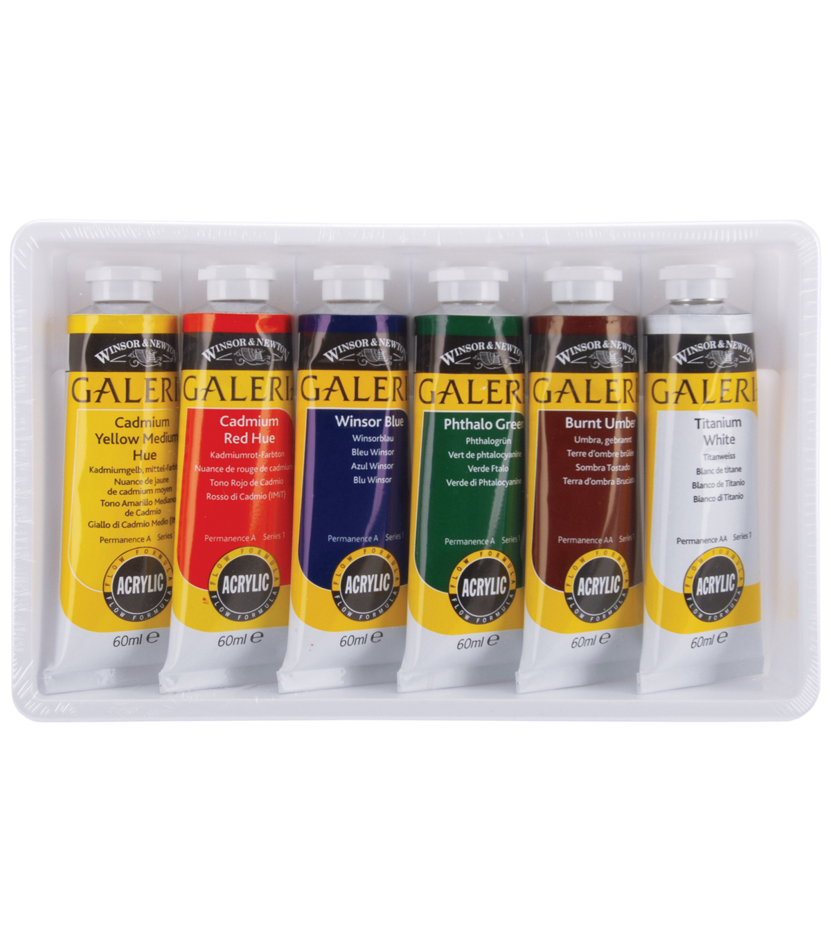 Winsor & Newton Galeria 60 mL Acrylic Paint Set-6PK