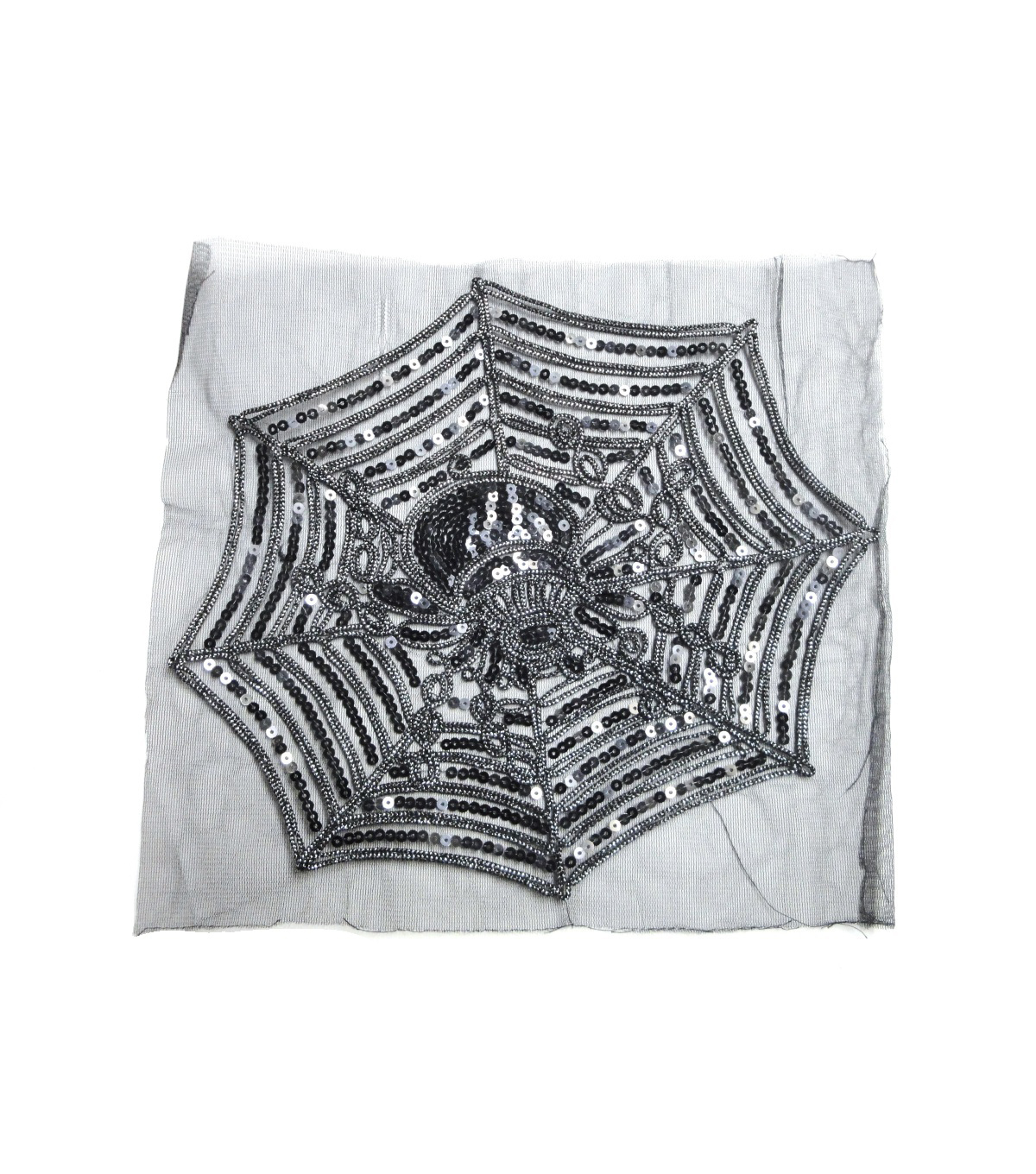 Halloween 15\u0027\u0027x11\u0027\u0027 Applique-Black & Silver Spider