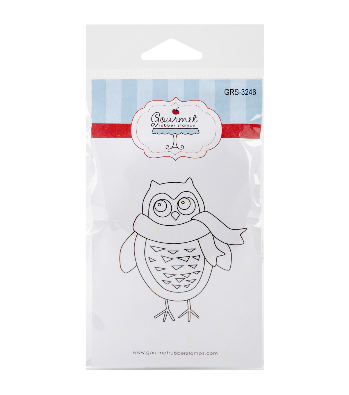 Gourmet Rubber Stamps Cling Stamps-Large Owl