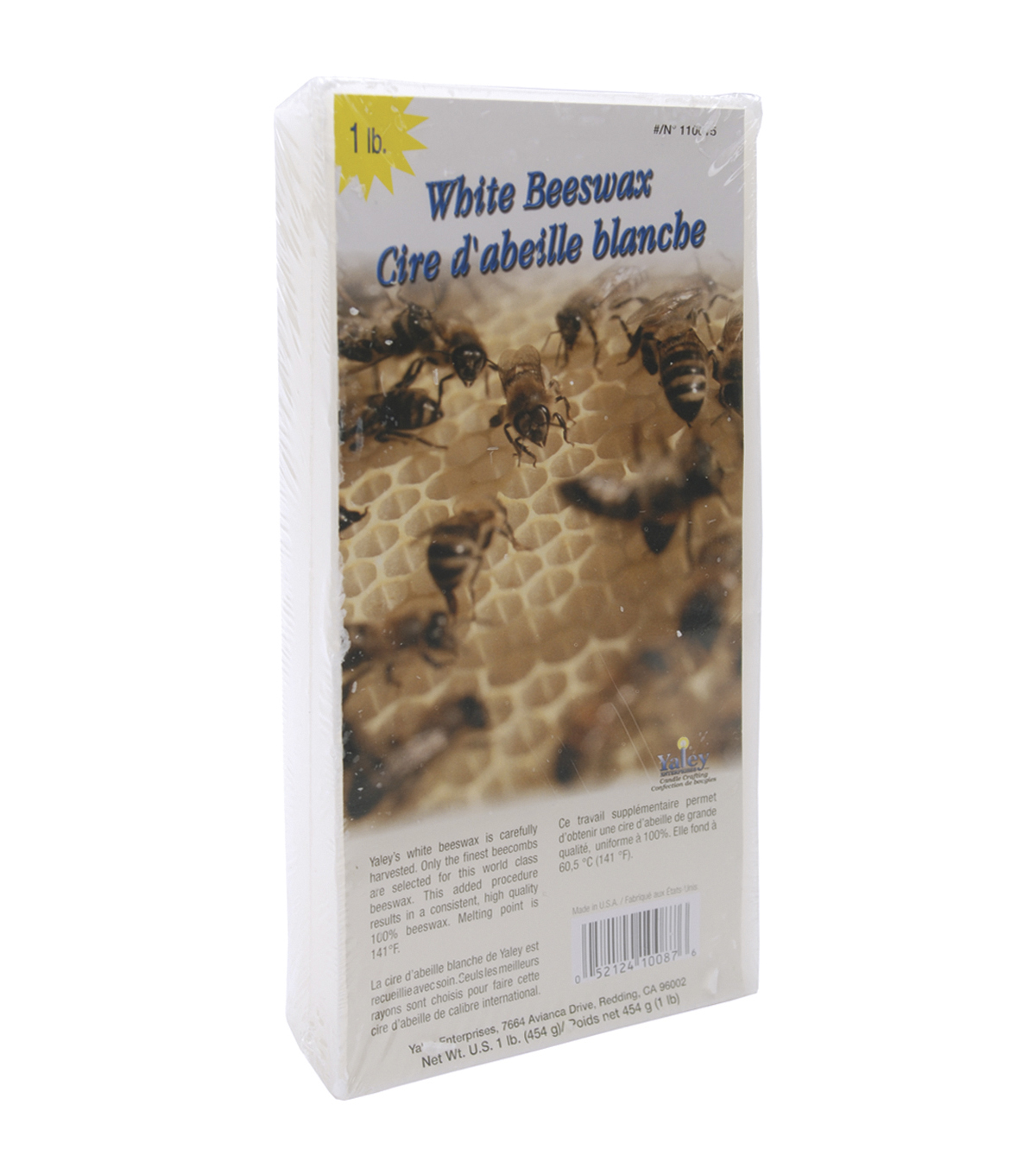 Beeswax 1lb Block-White
