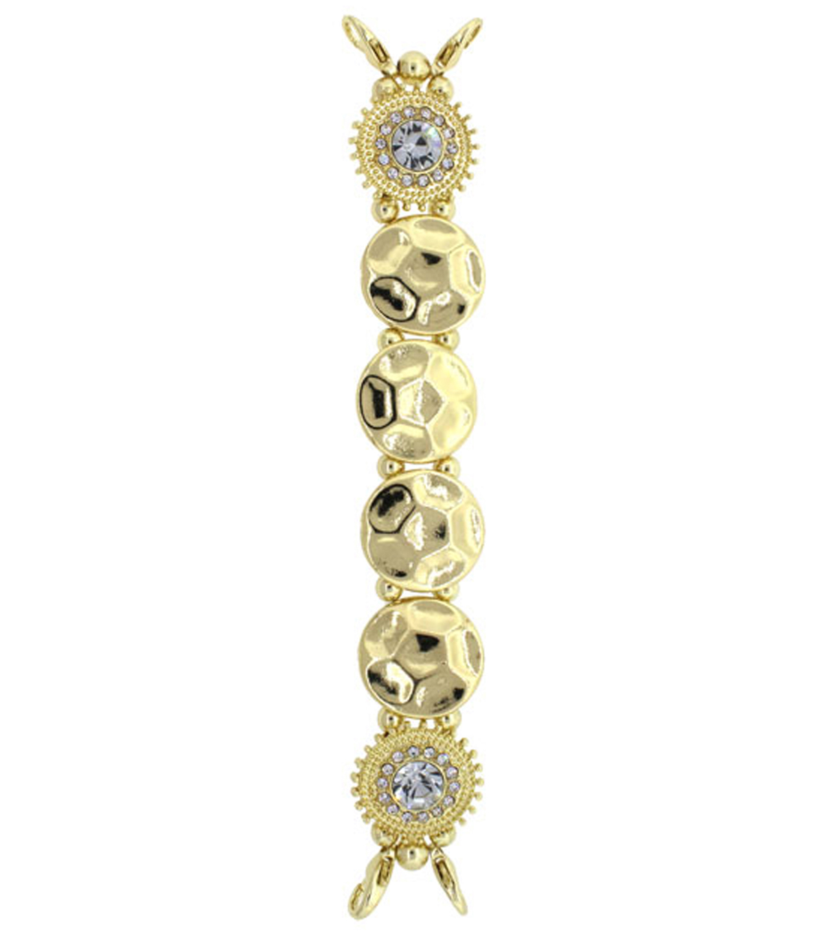 Build Your Own Watch Gold And Crystals Bracelet