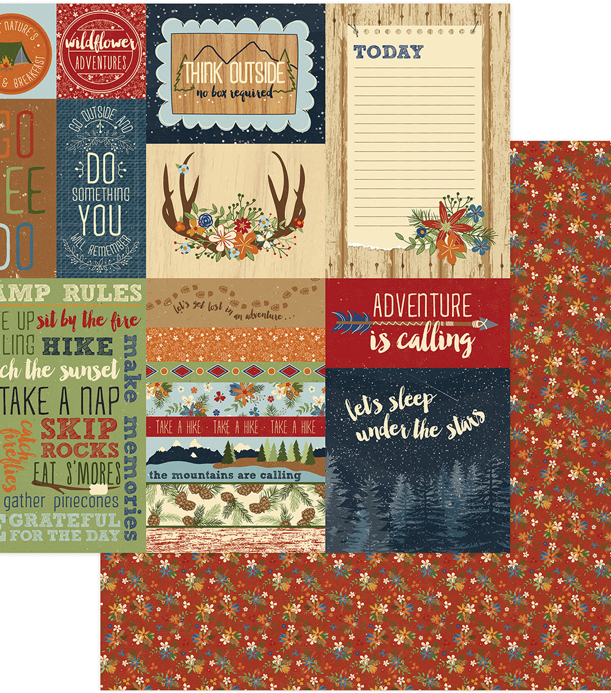Campfire Double-Sided Cardstock 12\u0022X12\u0022-Around The Campfire