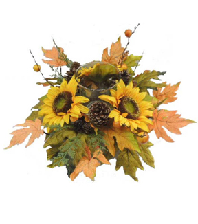 Blooming Autumn Large Sunflower Candle Holder