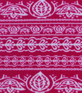 "Anti-Pill Fleece Fabric 59""-Pink Bandana"