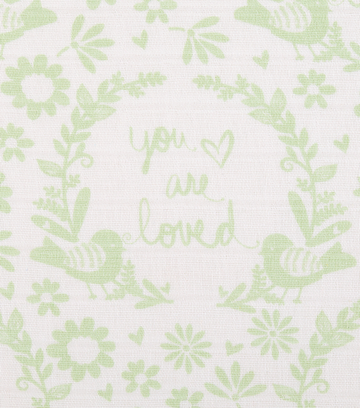 Nursery Cotton Farbic 44\u0022-Mint You Are So Loved