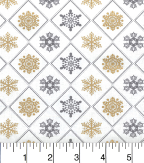 Maker\u0027s Holiday Cotton Fabric 43\u0022-Metallic Flakes in Triangles
