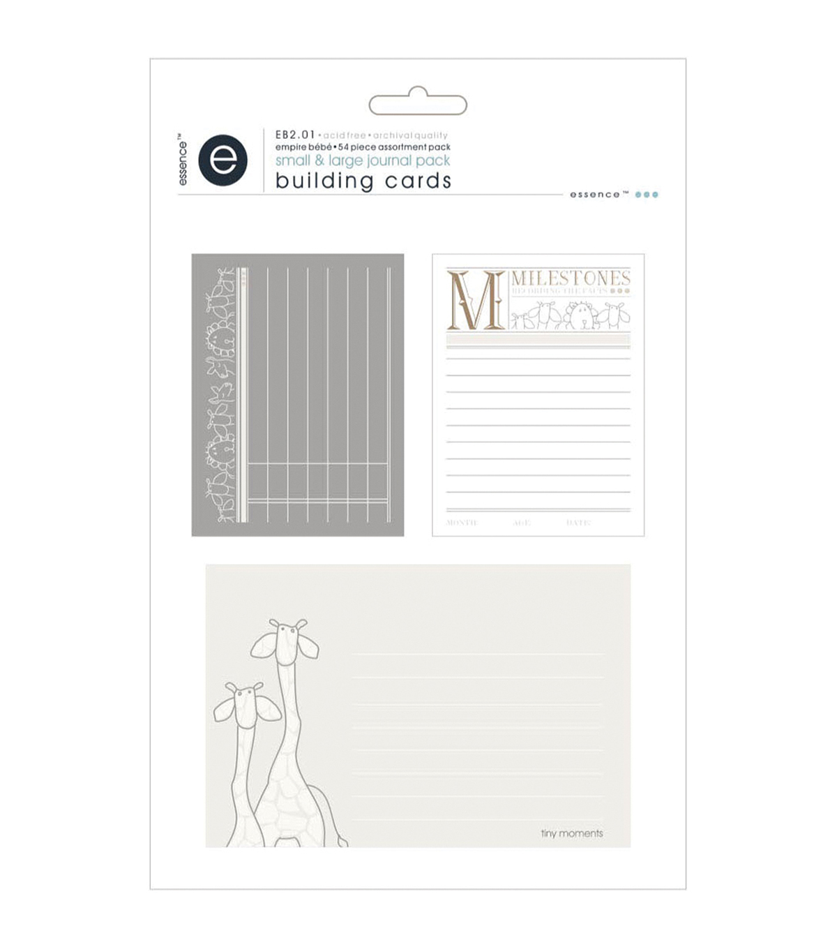 Empire Bebe Building Cards 54/Pkg-Journal