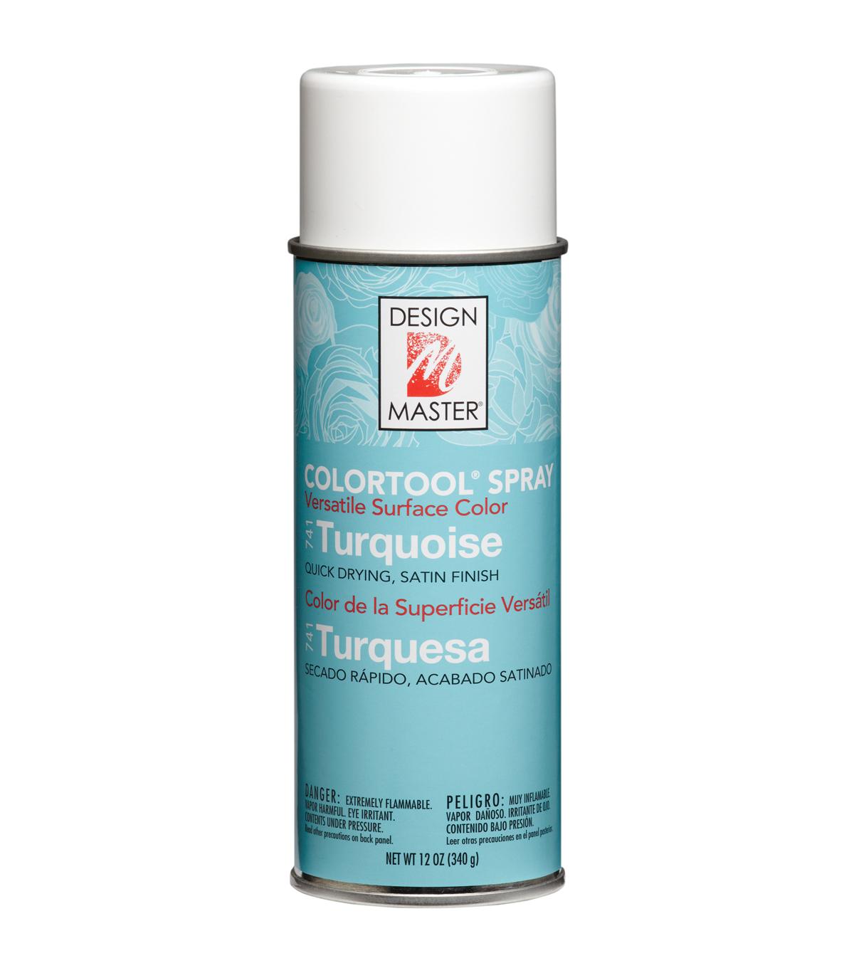 Colortool Floral Spray Paint 12 Ounces-Turquoise