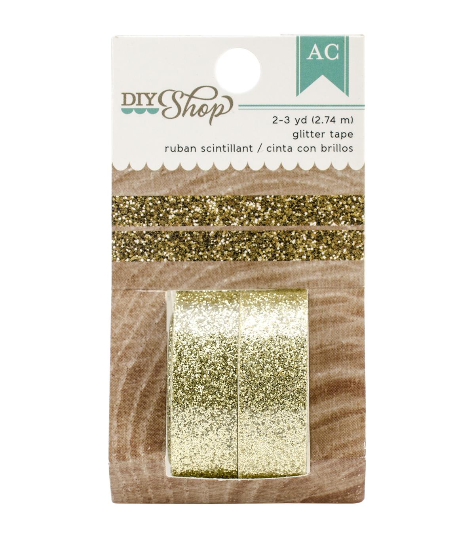 American Crafts DIY Shop 2 Gold Glitter Decorative Tape. DIY Shop 2 Decorative Tape 2 Pkg Gold Glitter   JOANN