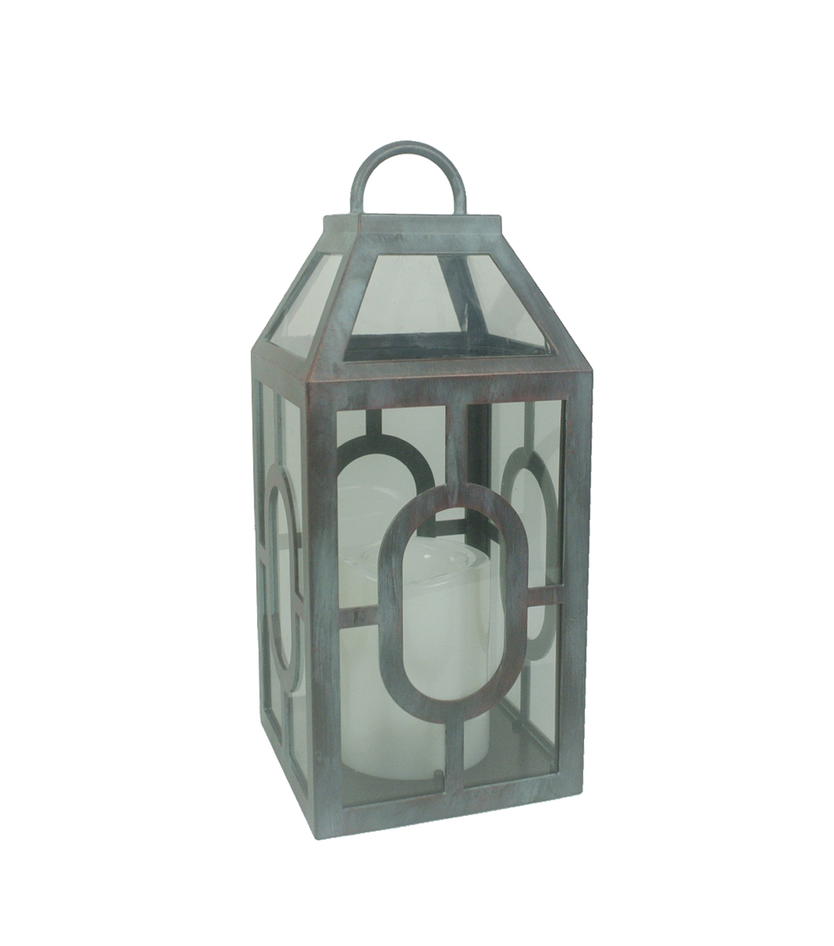 Hudson 43™ Candle & Light Collection Grey Distressed With LED Small