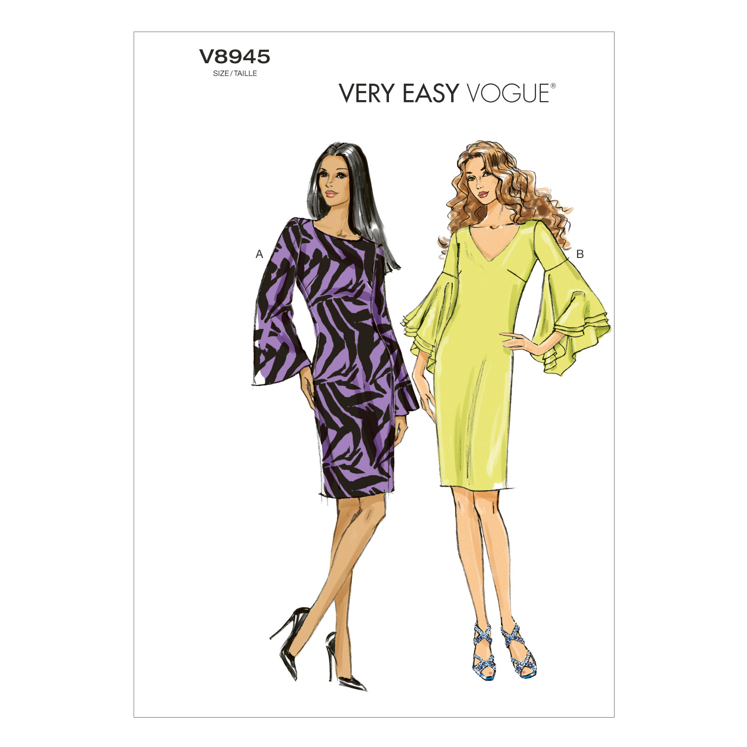 Vogue Patterns Misses Dress-V8945