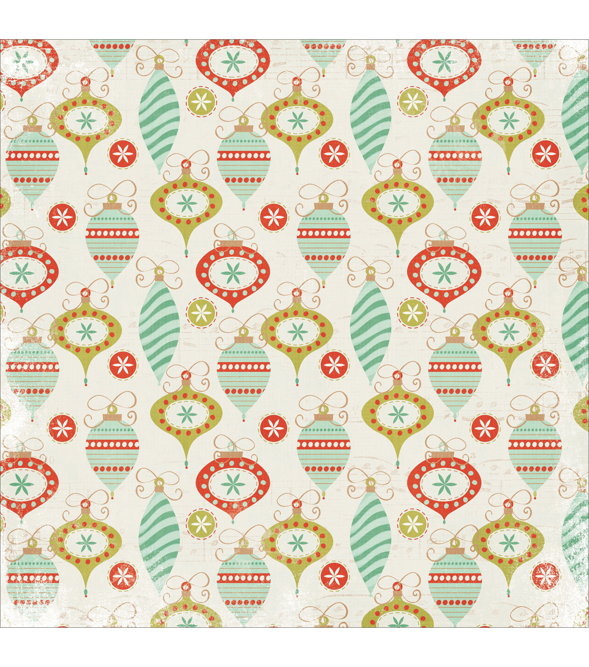 Mistletoe Spot Varnish Cardstock 12\u0022X12\u0022-Decorations