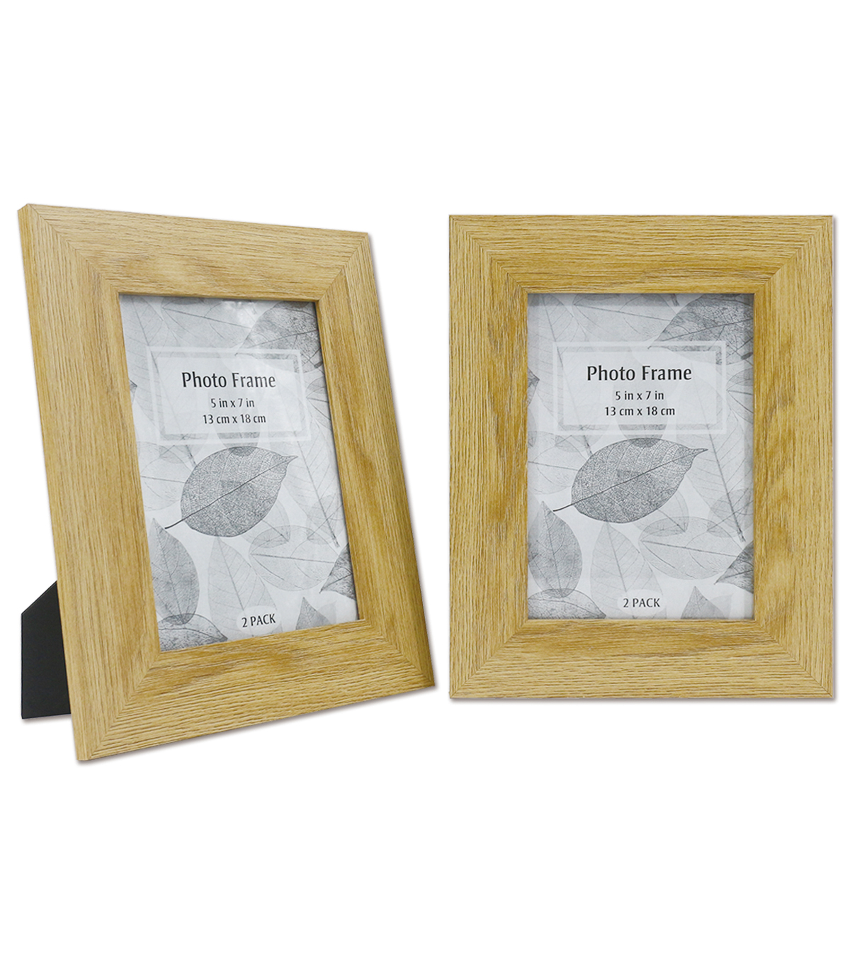 Wooden Photo Frames 2 pk 5\u0027\u0027x7\u0027\u0027-Natural