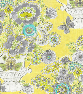 Dena Home Print Fabric 54\u0022-Blissful Bouquet/Lemon Meringue