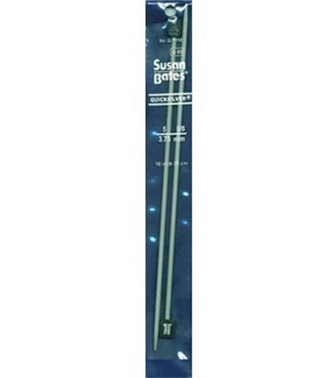 "Susan Bates Quicksilver Single Point Knitting Needles 10""-Size 5"