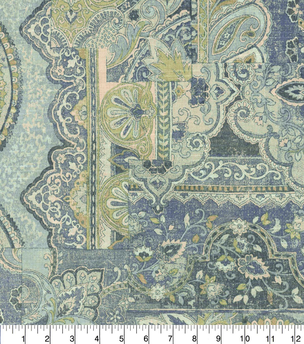Waverly Upholstery Fabric 54''-Lapis Historic Piece