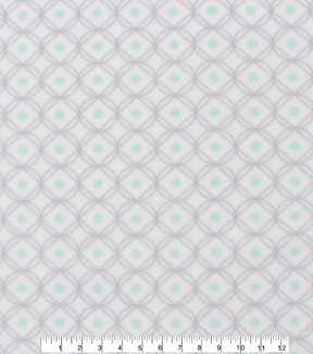 Blizzard Fleece Fabric 59\u0022-Mint Dot Geo