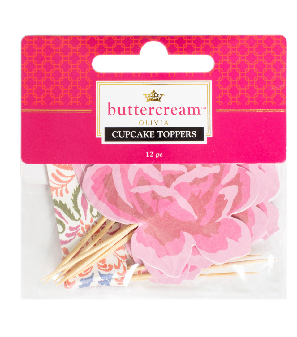 Buttercream™ Olivia Collection Decorative Food Toppers