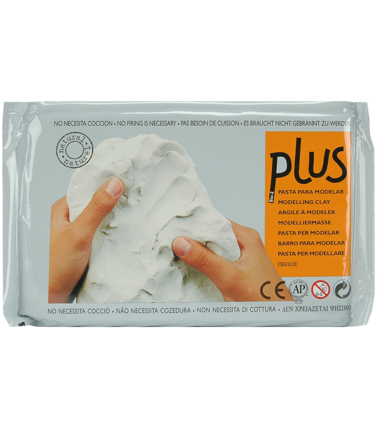 Plus Natural Self Hardening Clay 2.2lbs-Black