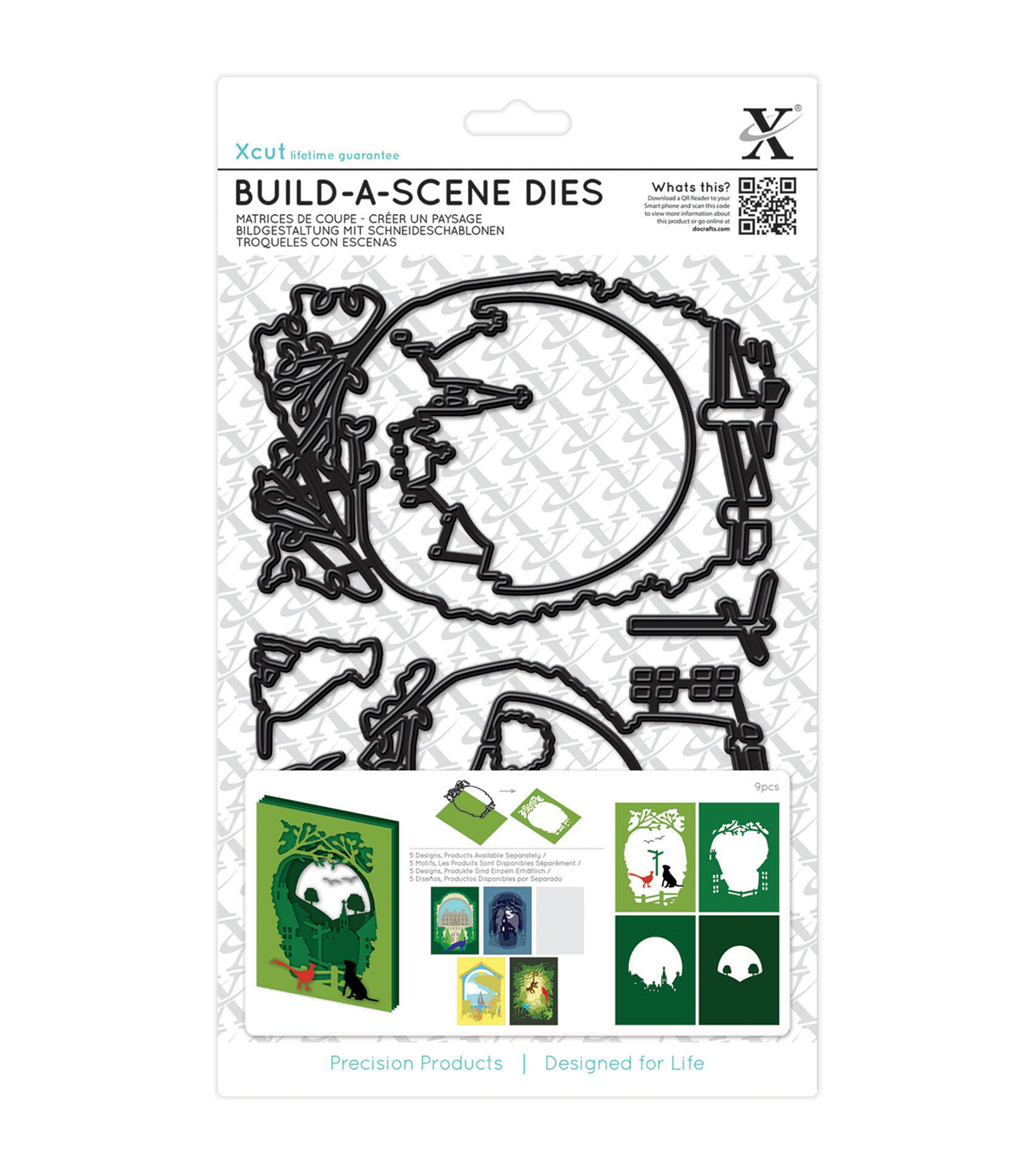 Xcut Build-A-Scene 9pcs Dies-Shadow Box Countryside