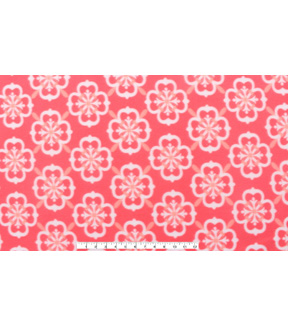 Blizzard Fleece Fabric 59\u0022-Coral Geometric