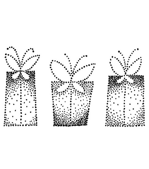 Stampendous Rubber Stamp-Flutter Box Dots