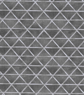 Asian Inspired Cotton Fabric 43\u0022-Bamboo Triangles Gray
