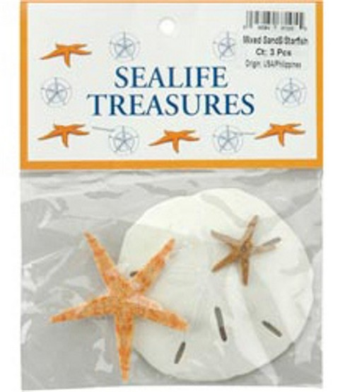Sealife Treasures-Sand Dollar & Starfish Mix