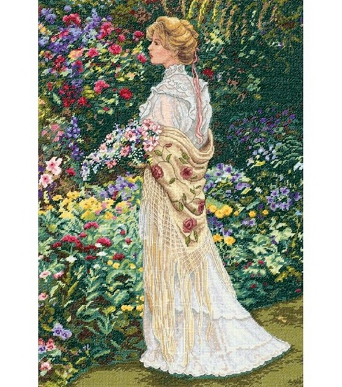 Dimensions Gold Collection Counted Cross Stitch Kit In Her Garden