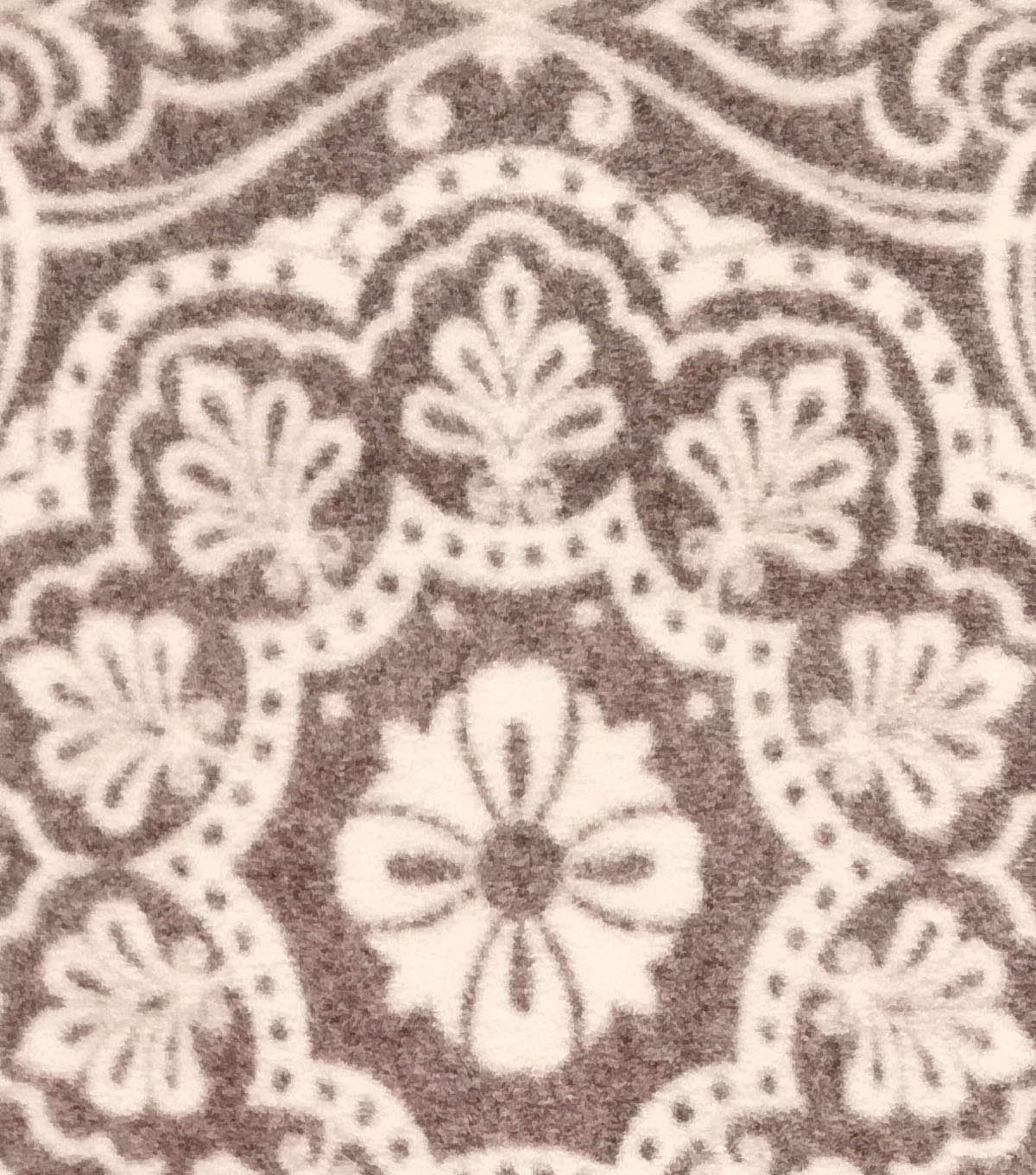 Luxe Fleece Fabric 59\u0022-Heather Medallion