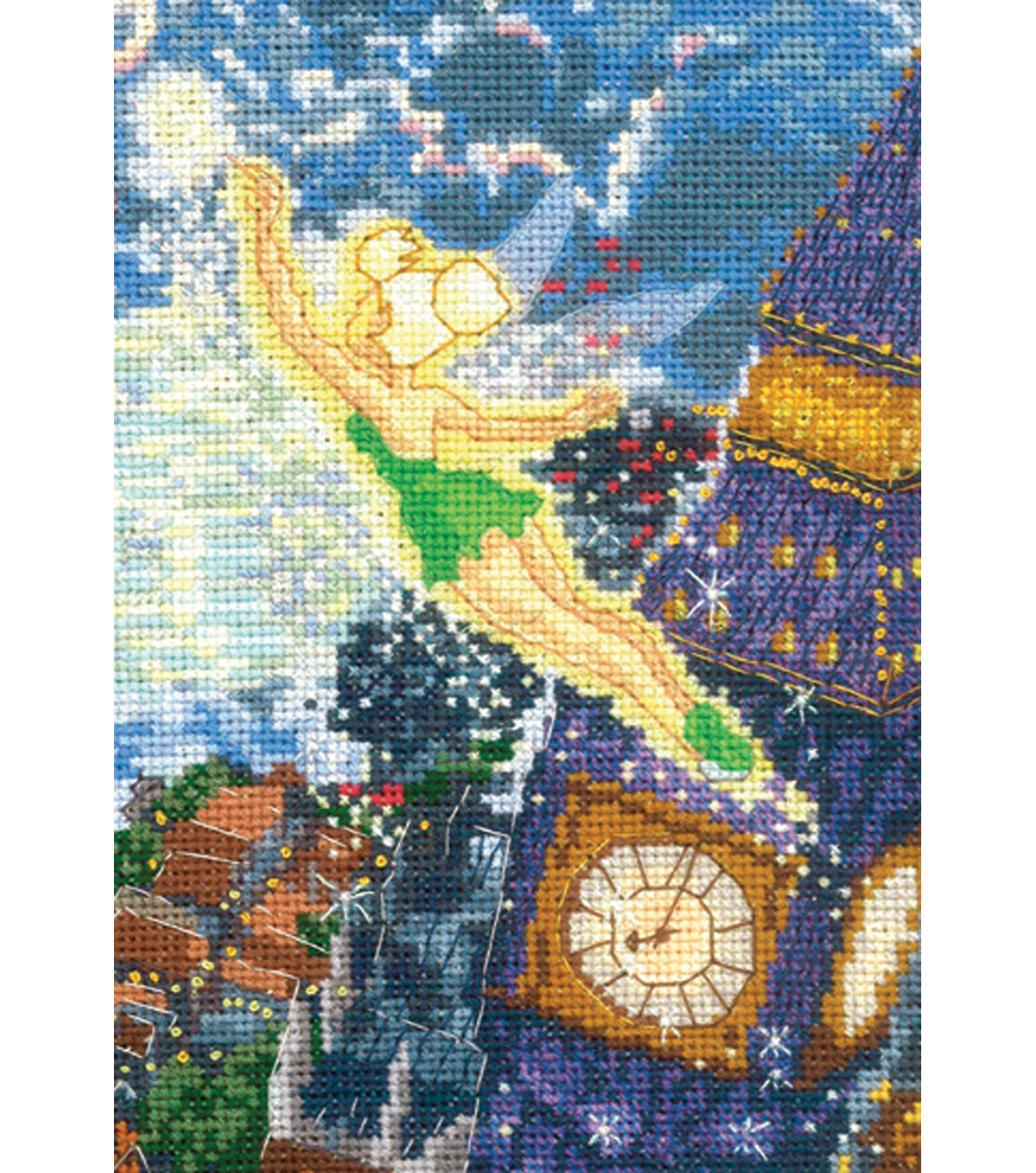 "Thomas Kinkade Tinker Bell Counted Cross Stitch Kit 5""X7"""