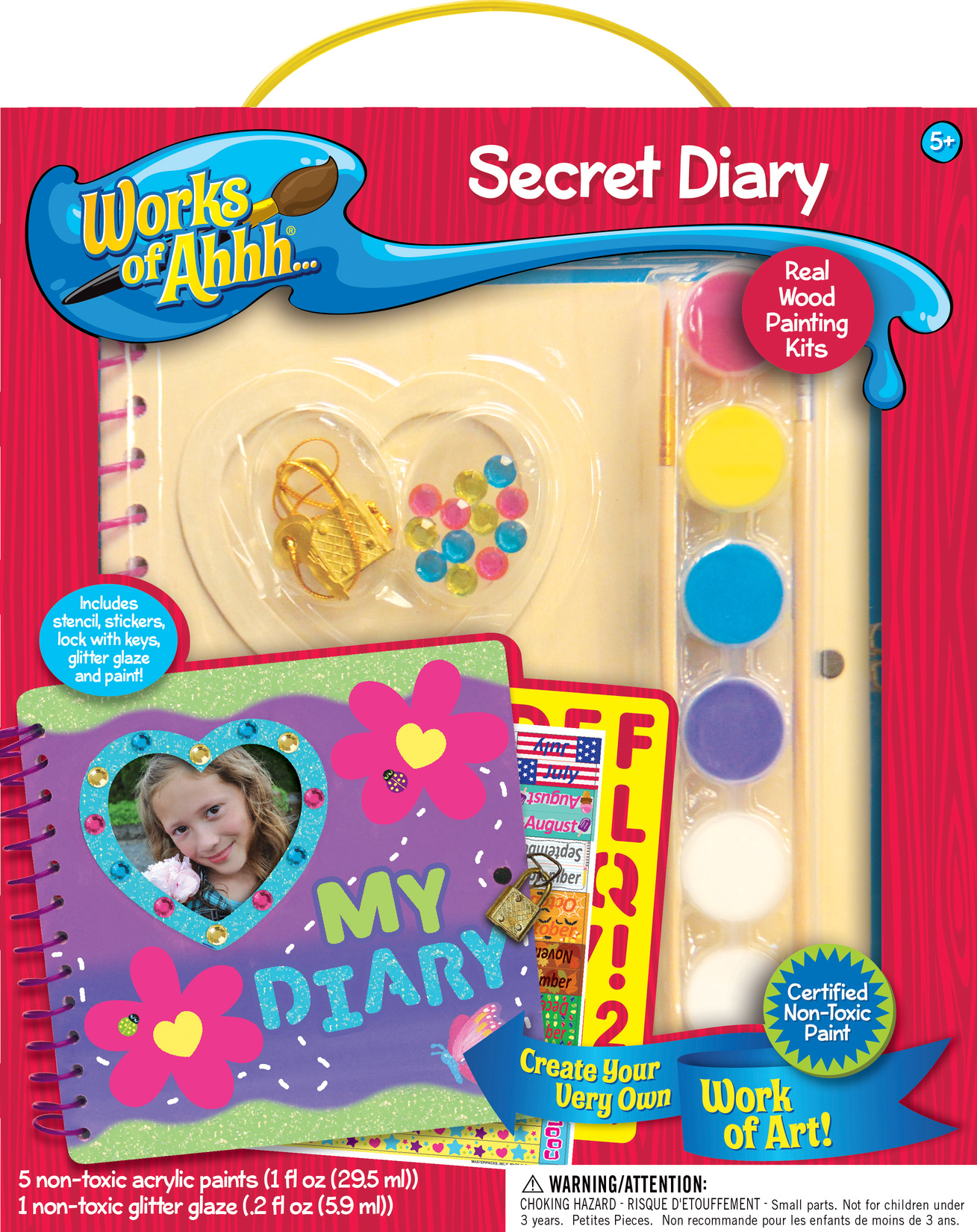 Works Of Ahhh Wood Painting Set Secret Diary