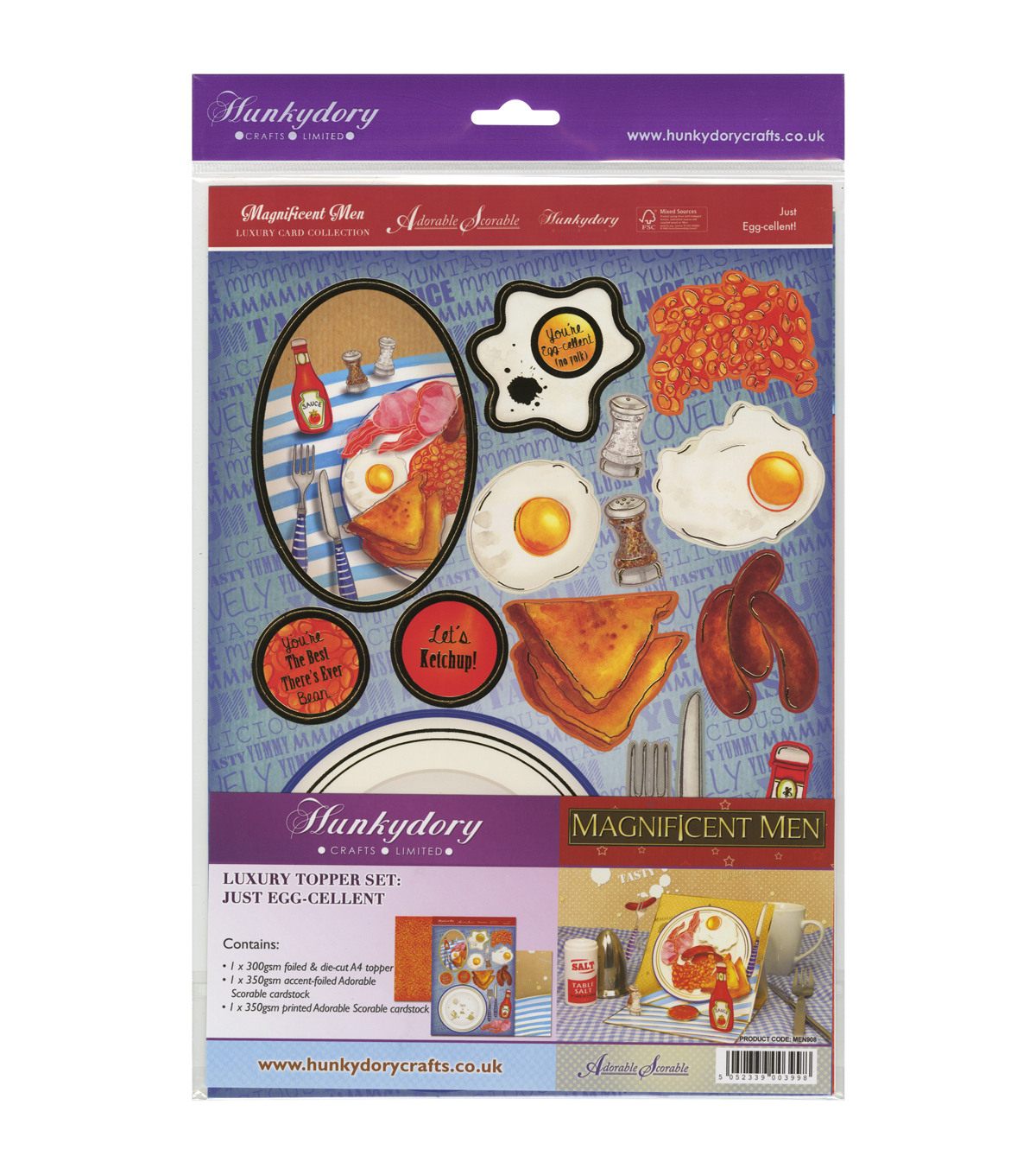Hunkydory Crafts Magnificent Men Just Egg-Cellent Luxury Topper Set