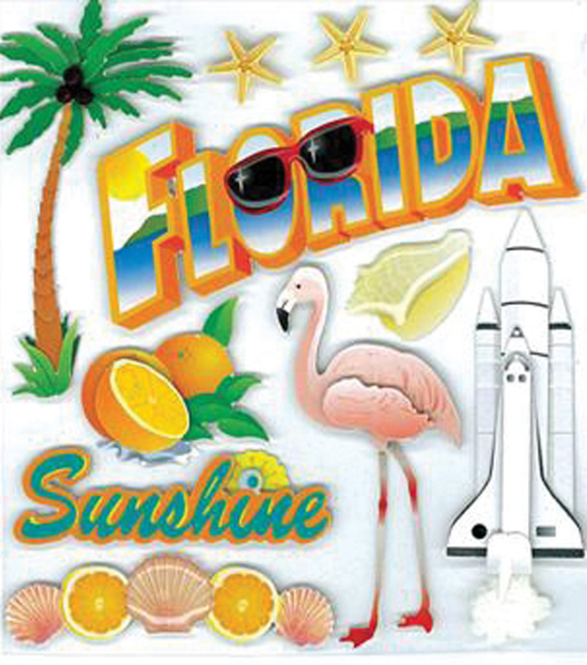 EK Success Dimensional Stickers-Florida