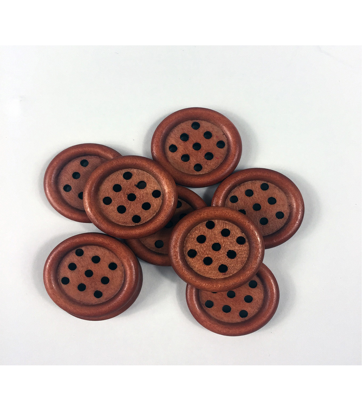 Organic Elements Wood Multi-Hole Natural Buttons 1\u0022
