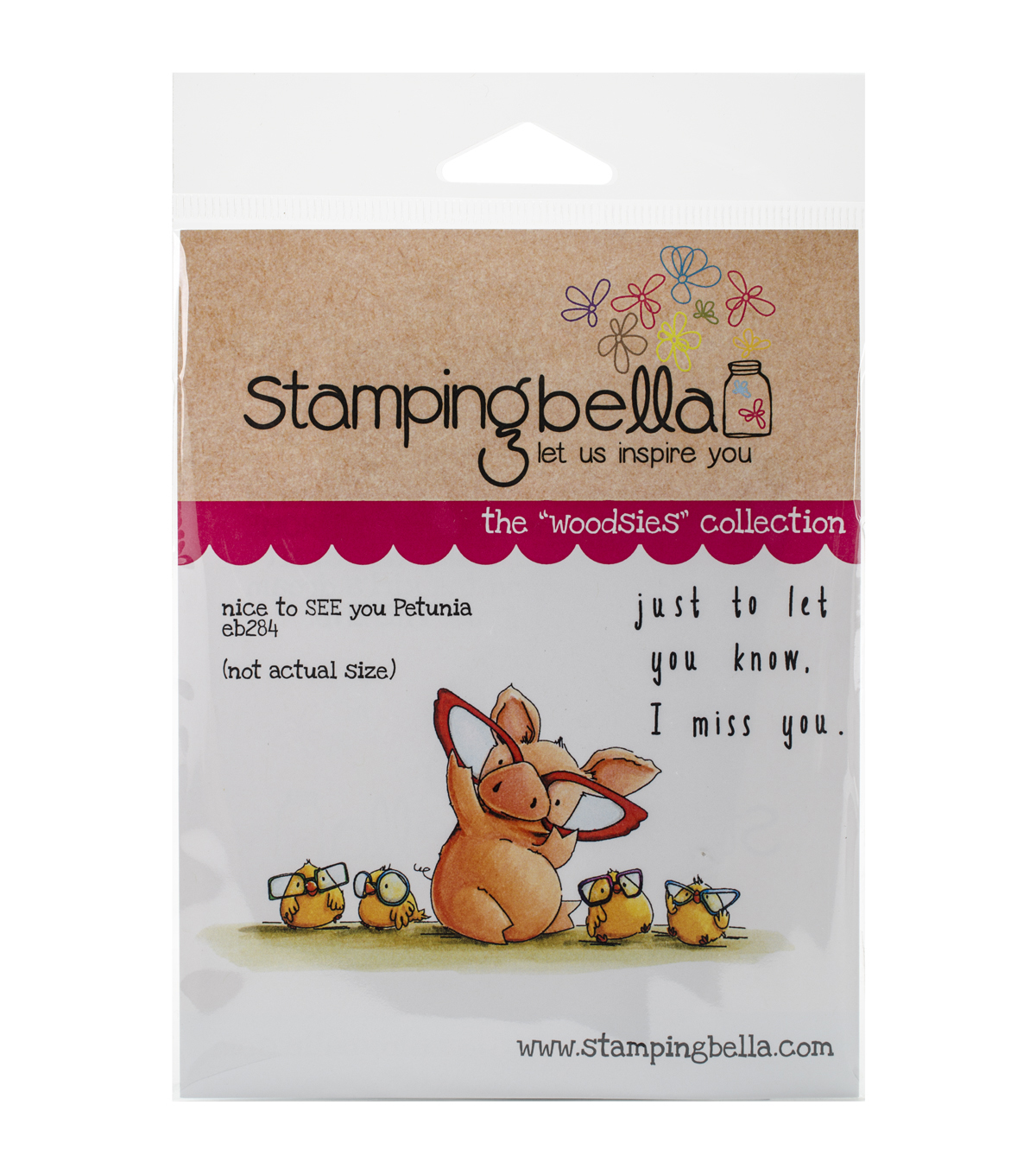 Stamping Bella Nice To See You Petunia Cling Stamp
