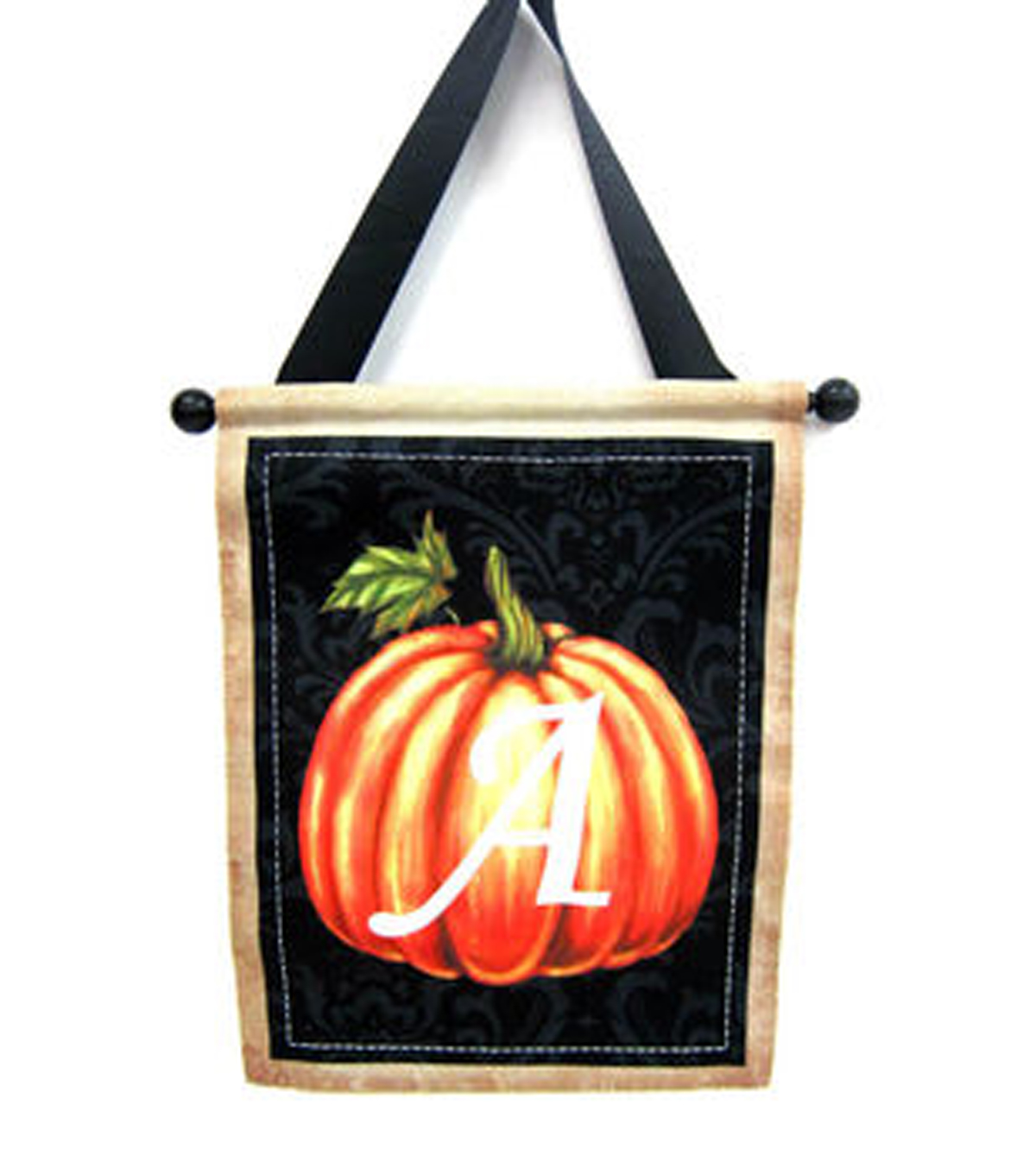 Art of Autumn Monogram Letter Pumpkin Outline Banner