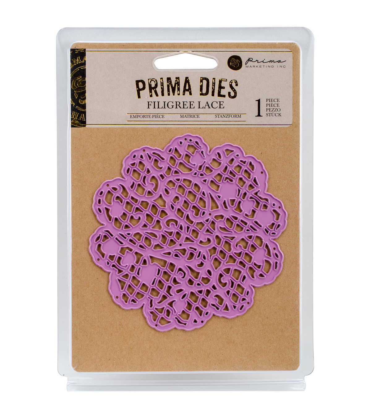 Prima Marketing Purple Metal Die-Filigree Lace