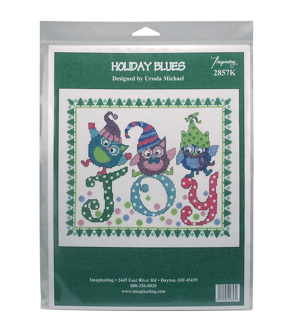Imaginating Counted Cross Stitch Kit-Holiday Blues