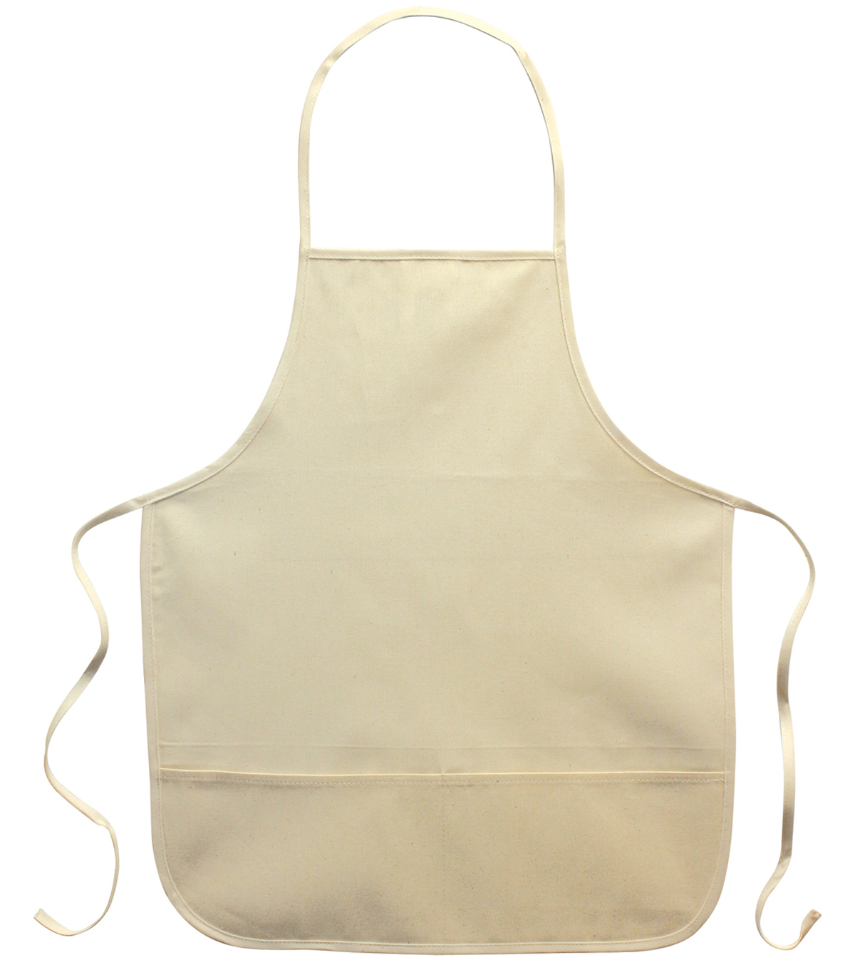 Twill Adult Apron 19.5\u0022x23.5-Natural