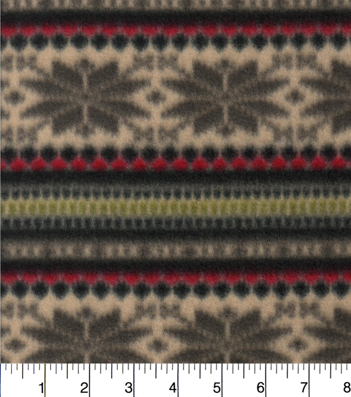 "Blizzard Fleece Fabric 58""-Snowflake Stripe Knit"