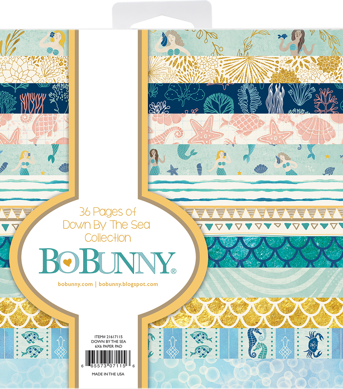 "BoBunny Single-Sided Paper Pad 6""X6""-Down By The Sea"