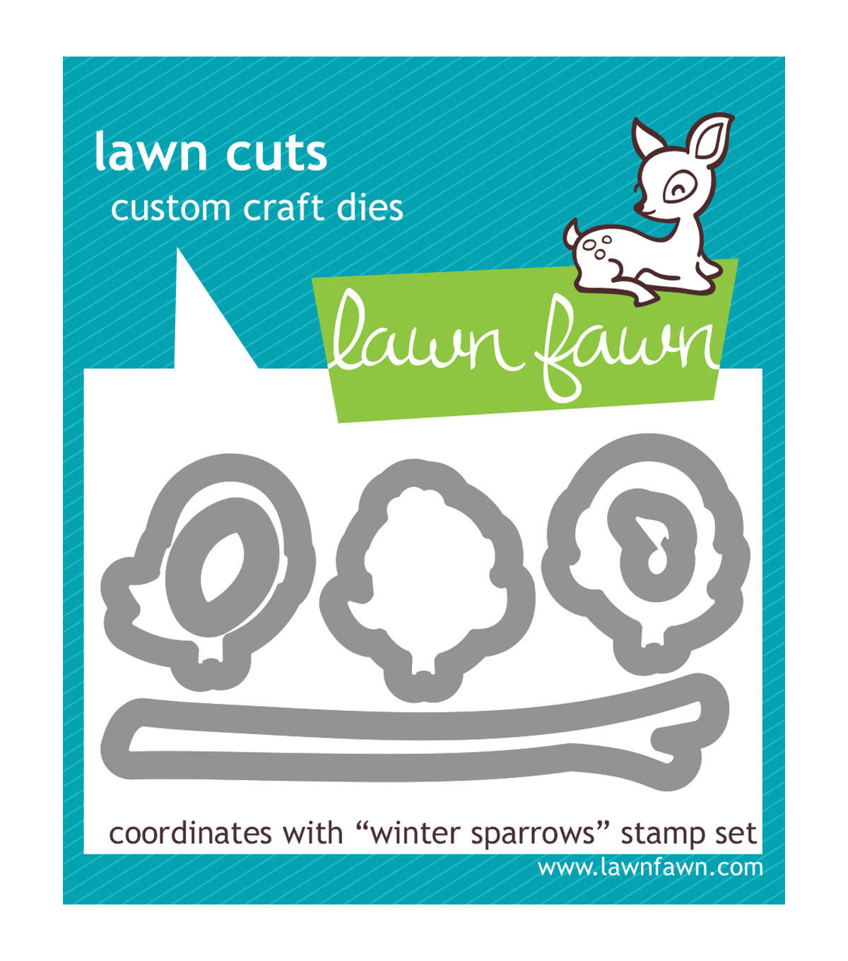 Lawn Fawn Lawn Cuts Custom Craft Die -Winter Sparrows