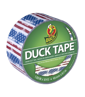Printed Duck Tape® Br& Duct Tape 1.88 in. x 10 yd.-Americana